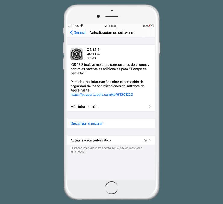 Actualizacion iOS 13.3 Oficial ya disponible –  Como descargar e instalar