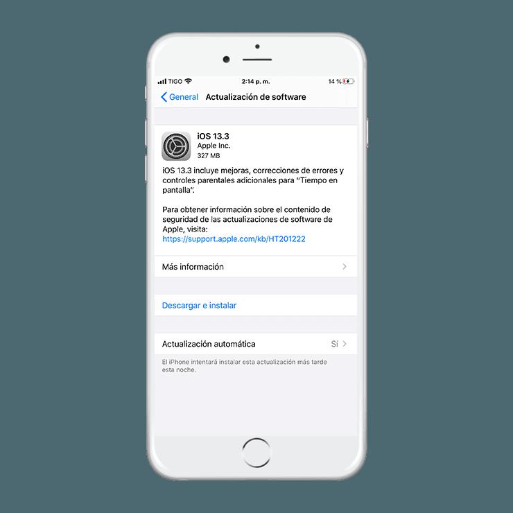 Actualizacion iOS 13.3 Oficial ya disponible - Como descargar e instalar 1